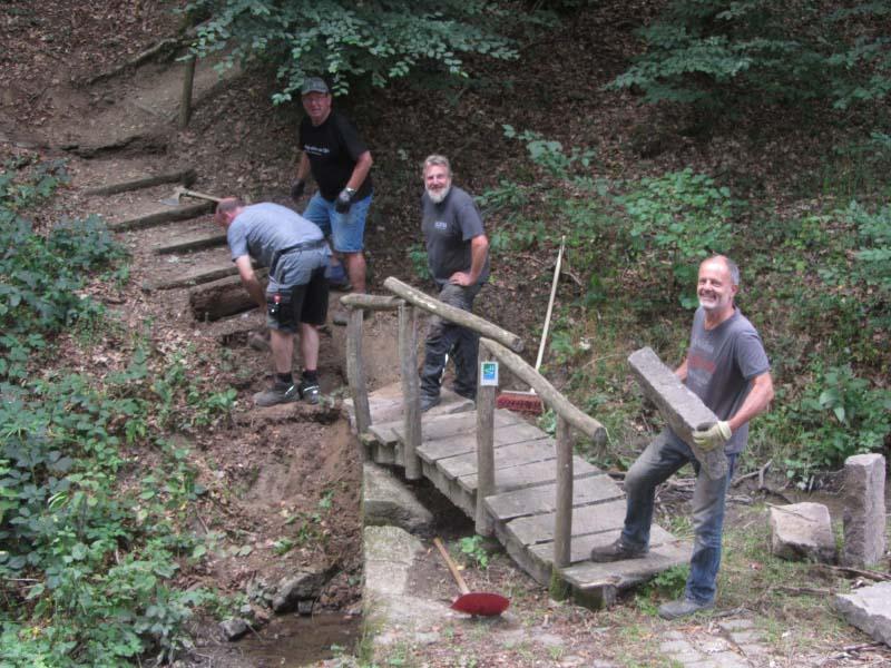 Neubau der Treppenstufen an der Altstrimmiger Grillhütte